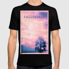 California Pink MEDIUM Mens Fitted Tee Black