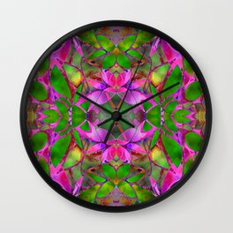 Floral Fractal Art G374 Wall Clock