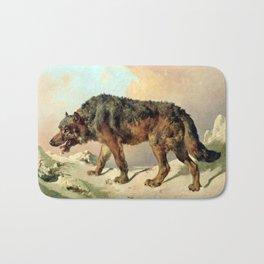 Sibirischer Wolf Bath Mat