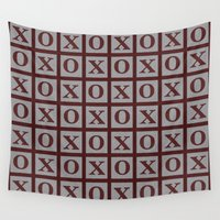 xoxo Wall Tapestries featuring XOXO by LLL Creations