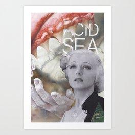 'acid sea' Art Print