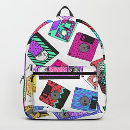 Retro 80's 90's Neon Patterned Cassette Tapes Backpack