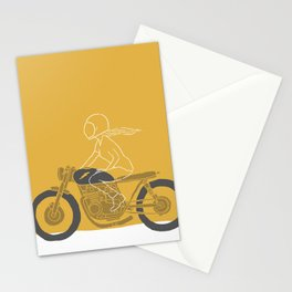 riding girl Stationery Cards