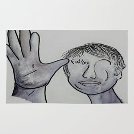 ASL Father in Denim Colors Rug