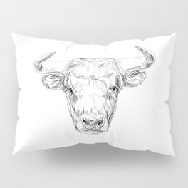 Bull illustration Pillow Sham