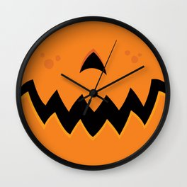 Crazy Pumpkin Jack-O-Lantern Mouth Wall Clock