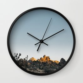 Fading Sun in Joshua Tree Wall Clock