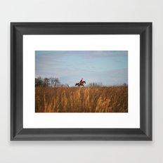 Fox Hunt Framed Art Print
