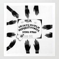 ouija Art Prints featuring Ouija by Sabrina Brubaker