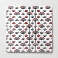 Beautiful Climbing Flowers Pattern Metal Print