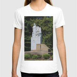 Lourdes University- Our Lady of Sylvania in the Spring (vertical) T-shirt