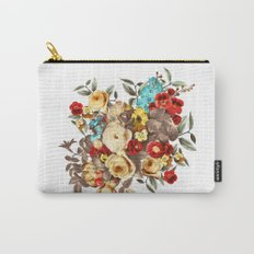 Watercolors Floral Pattern Carry-All Pouch