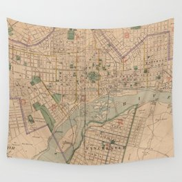 Vintage Map of Richmond Virginia (1876) Wall Tapestry