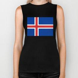 National flag of Iceland Biker Tank
