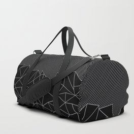 Ab Lines 45 Grey and Black Duffle Bag