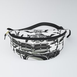 Skeleton playing drums Fanny Pack