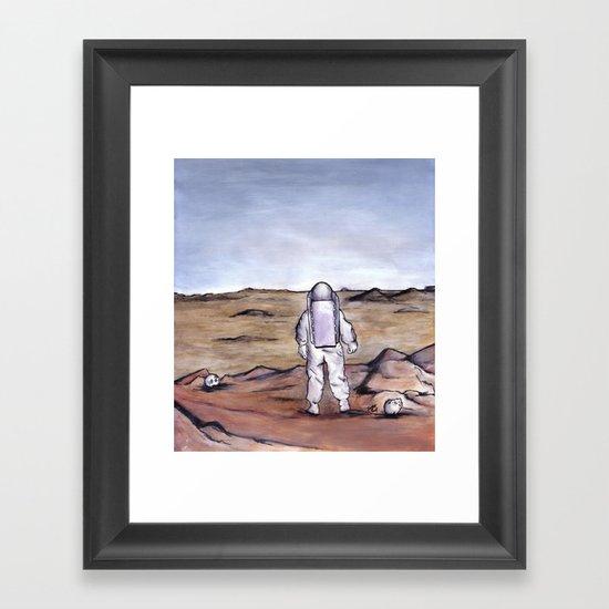Rust Coloured Soil Framed Art Print