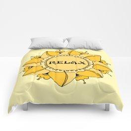 Relax Nouveau Golden Sun Mandala Comforters