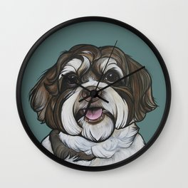 Wallace the Havanese Wall Clock
