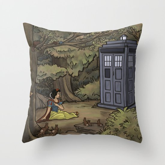 Escape from the Dark Forest Throw Pillow