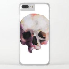 Skull art painting drawing artwork watercolors aquarel colors skeleton anatomy Clear iPhone Case