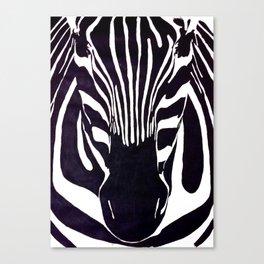 Zebra Painting  Canvas Print