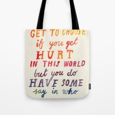 If You Get Hurt Poster Tote Bag