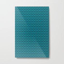 Blue and Black Zebra Pattern Metal Print