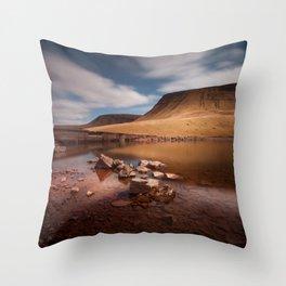 Llyn y Fan Fach Mountain Throw Pillow