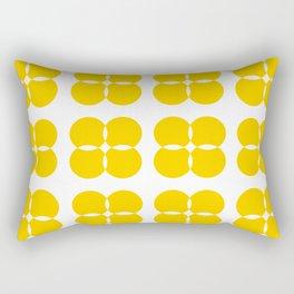 Yellow Bejeweled Circles Rectangular Pillow