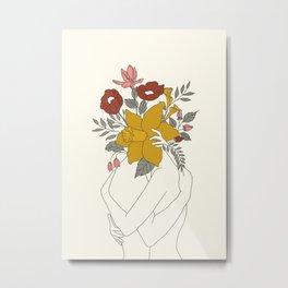 Colorful Blossom Hug Metal Print