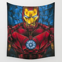 CUBIST IRONMAN Wall Tapestry