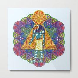 Sacred Geometry Thoth Mandala II Metal Print