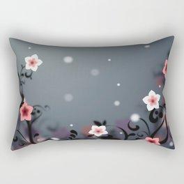 Pink and white flowers - Elegant Rectangular Pillow