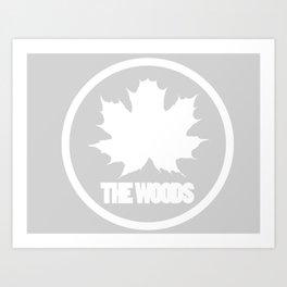 The Woods Leaf Art Print