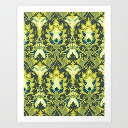 Gothic flowers pattern Art Print