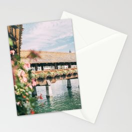 Luzern Chapel Bridge Switzerland - Traven Fine Art Stationery Cards