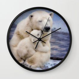 Polar Bear Love Wall Clock