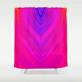 stripes wave pattern 3 s120 Shower Curtain