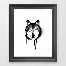 Wolf spray paint Framed Art Print