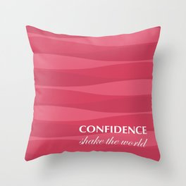 Red for Confidence Throw Pillow