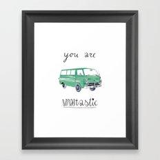 you are VANtastic by Veronique de Jong Framed Art Print