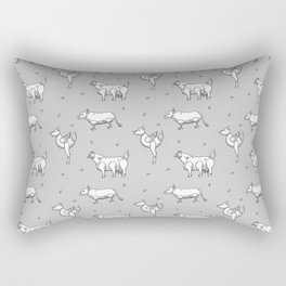 Mutants animals pattern Rectangular Pillow