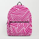 Abstract pink & white Lines and Triangles Pattern-Mix and Match with Simplicity of Life by simplicity_of_live