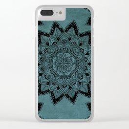Mandala Art Blue Clear iPhone Case