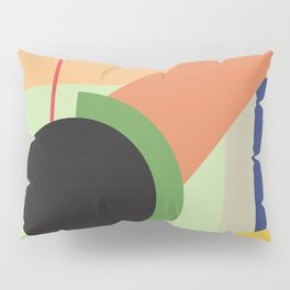 Abstract geometric composition study- Space Pillow Sham