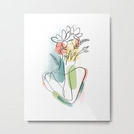 Flowerhead Femme No. 2 Metal Print