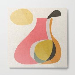 Abso 01 Pear Vase Metal Print