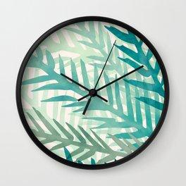 Tropical Greenery IV Wall Clock