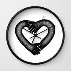 heart hand Wall Clock